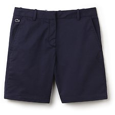 Image of Lacoste NAVY BLUE WOMEN'S CHINO CUT BERMUDA SHORT