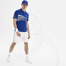 Image of Lacoste WHITE/BLACK MEN'S NOVAK DJOKOVIC TRAINING SHORTS