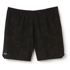 Image of Lacoste BLACK MEN'S PIXELATED CAMO TECH SHORTS
