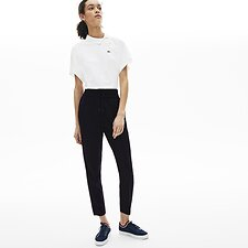 Image of Lacoste DARK NAVY WOMEN'S ROUCHED TROUSER