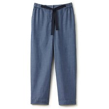 Picture of LINEN CHAMBRAY BLEND TROUSER