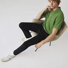 Image of Lacoste BLACK MEN'S SLIM STRETCH CHINO