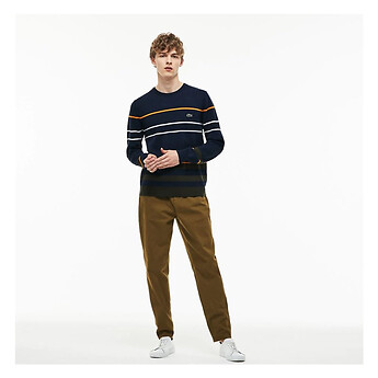 Image of Lacoste  MEN'S BROKEN TWILL CHINO PANTS