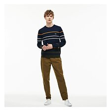 Image of Lacoste SOLDIER MEN'S BROKEN TWILL CHINO PANTS
