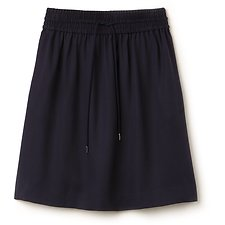 Image of Lacoste NAVY BLUE WOMEN'S ELASTIC WAIST SKIRT