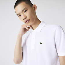 Image of Lacoste WHITE L.12.12 ORIGINAL SHORT SLEEVE POLO