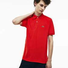 Image of Lacoste ETNA RED L.12.12 ORIGINAL SHORT SLEEVE POLO