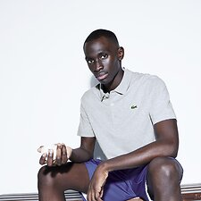 Image of Lacoste SILVER CHINE SHORT SLEEVE SPORT POLO