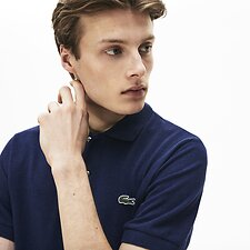 Image of Lacoste LILIUM CHINE MEN'S CLASSIC FIT MARLE POLO