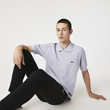 Image of Lacoste SILVER CHINE L.12.12 ORIGINAL SHORT SLEEVE MOTTLED POLO