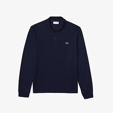 Image of Lacoste NAVY BLUE LONG SLEEVE CLASSIC FIT POLO