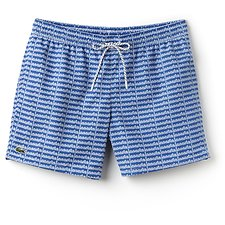 Image of Lacoste BLUE/WHITE REPEAT LOGO SWIM SHORT