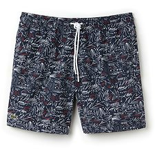 Image of Lacoste NAVY BLUE/INTENSE-WHITE MEN'S PRINTED SWIM SHORT