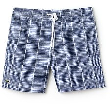 Image of Lacoste MARINO/WHITE MEN'S PRINTED SWIM SHORT