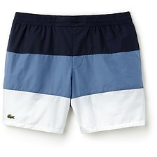 Image of Lacoste NAVY BLUE/KING-WHITE MEN'S COLOUR BLOCK SWIM SHORT
