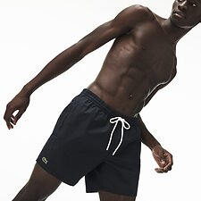 Image of Lacoste BLACK/NAVY BLUE MEN'S BASIC SWIM SHORT