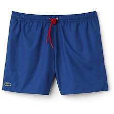 Image of Lacoste SAPPHIRE BLUE/RED BASIC SWIM SHORT