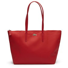 Image of Lacoste HIGH RISK RED WOMEN'S  L.12.12 LARGE SHOPPING BAG