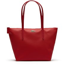 Image of Lacoste HIGH RISK RED WOMEN'S  L.12.12 SMALL SHOPPING BAG