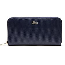 Image of Lacoste PEACOAT CHANTACO LARGE ZIP WALLET