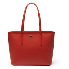 Image of Lacoste ORANGE.COM WOMEN'S CHANTACO MEDIUM ZIP SHOPPING BAG