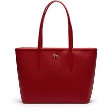 Image of Lacoste BLACK WOMEN'S CHANTACO MEDIUM ZIP SHOPPING BAG