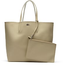 Image of Lacoste WARM SAND MARSHMALLOW WOMEN'S ANNA LARGE SHOPPING BAG