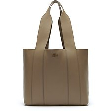 Image of Lacoste KRAFT BEIGE WOMEN'S PURITY MONOCHROME SHOPPING BAG