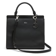 Image of Lacoste BLACK WOMEN'S DAILY CLASSIC SATCHEL BAG