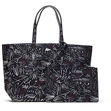 Image of Lacoste BLUE EGYPTIAN WOMEN'S ANNA PRINTED SHOPPING BAG