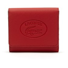 Image of Lacoste HIGH RISK RED PEACOAT WOMEN'S CLASSIC TRIFOLD WALLET