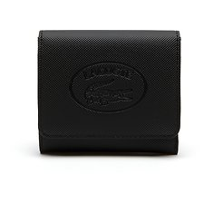 Image of Lacoste BLACK ECLIPSE WOMEN'S CLASSIC TRIFOLD WALLET