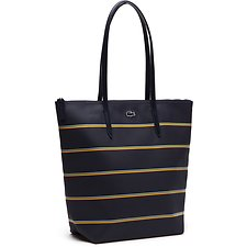 Image of Lacoste PEACOAT MULTICO WOMEN'S L.12.12 STRIPES VERTICAL TOTE