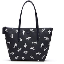 Image of Lacoste PEACOAT CROC WOMEN'S L.12.12 CROC SMALL SHOPPING BAG
