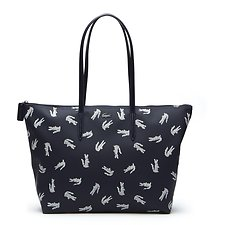Image of Lacoste PEACOAT CROC WOMEN'S L.12.12 CROC LARGE SHOPPING BAG