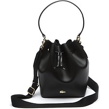 Image of Lacoste BLACK WOMEN'S CHANTACO BUCKET BAG