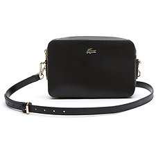 Image of Lacoste BLACK WOMEN'S CHANTACO SQUARE CROSSOVER BAG