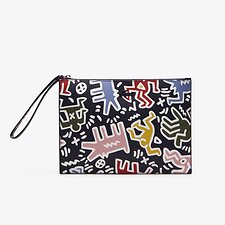 Image of Lacoste K H MULTICO WOMEN'S PRINTED KEITH HARING  ZIP POUCH