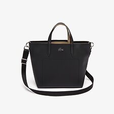 Image of Lacoste BLACK WARM SAND WOMEN'S  ANNA STRAP SMALL SHOPPING BAG