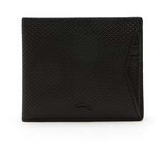Image of Lacoste BLACK MEN'S CHANTACO MEDIUM BILLFOLD WITH CREDIT CARD HOLDER