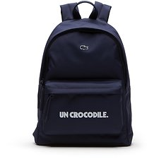 Image of Lacoste NAVY BLUE/GREEN-WHITE MEN'S UN CROCDILE BACKPACK