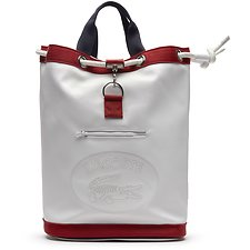 Image of Lacoste WHITE/ PEACOAT RED MEN'S 85TH ANNIVERSARY LIMITED EDITION SAILOR BAG