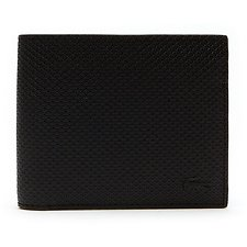 Image of Lacoste BLACK MEN'S CHANTACO MEDIUM BILLFOLD GIFT SET