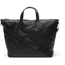 Image of Lacoste BLACK MEN'S L.12.12 LEATHER WEEKENDER