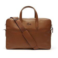 Image of Lacoste BISON MEN'S L.12.12 LEATHER COMPUTER BAG