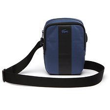 Image of Lacoste BLUE WING TEAL MEN'S URBAN TREK VERTICAL CAMERA BAG