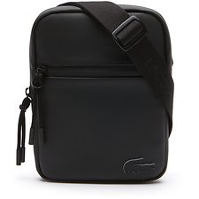Image of Lacoste BLACK MEN'S L.12.12 CONCEPT SMALL FLAT CROSSOVER BAG