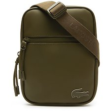 Image of Lacoste MILITARY OLIVE MEN'S L.12.12 CONCEPT SMALL FLAT CROSSOVER BAG