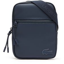 Image of Lacoste BLUE WING TEAL MEN'S L.12.12 CONCEPT SMALL FLAT CROSSOVER BAG