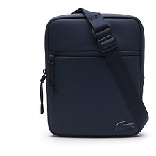 Image of Lacoste BLUE WING TEAL MEN'S L.12.12 CONCEPT MEDIUM FLAT CROSSOVER BAG